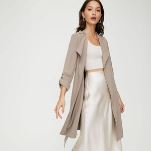 Aritzia Babaton Flowy Trench Coat Taupe XS